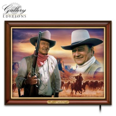 John Wayne Light Of A Legend Illuminating Canvas Print