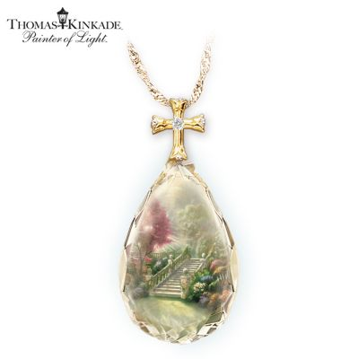 Thomas Kinkade Stairway To Heaven Pendant Necklace