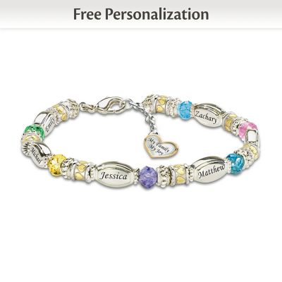 My Family, My Joy Personalized Bracelet
