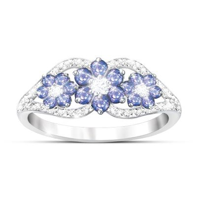African Violets Tanzanite And Diamond Ring
