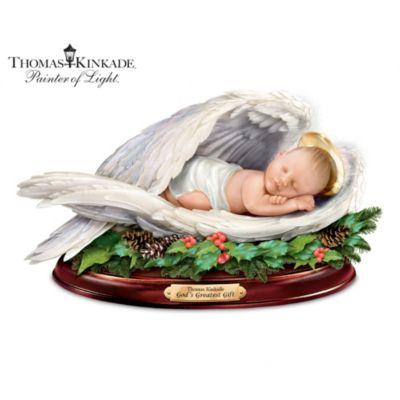 Thomas Kinkade Christmas Blessing Sculpture