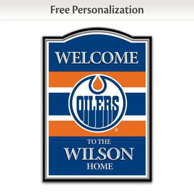 Edmonton Oilers® Personalized Welcome Sign