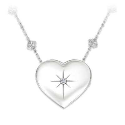 Grandma's Message Of Faith Diamond Pendant Necklace