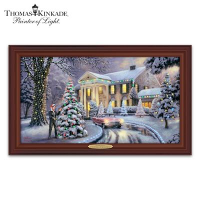 Thomas Kinkade Christmas At Graceland Wall Decor