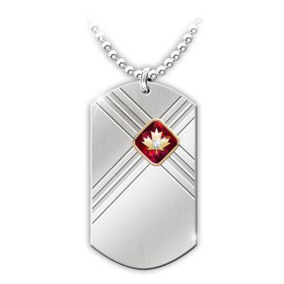 Lest We Forget Diamond Pendant Necklace