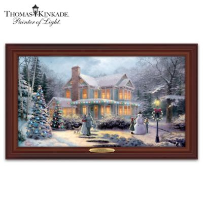 Thomas Kinkade Victorian Family Christmas Wall Decor