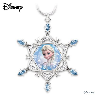 Disney FROZEN Diamond And Crystal Snowflake Pendant Necklace