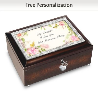 My Daughter, I Will Love You Always Personalized Music Box