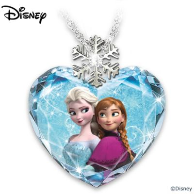 Disney FROZEN Crystal Heart And Diamond Pendant Necklace