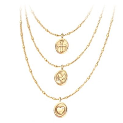 Heartfelt Blessings Diamond Pendant Necklace