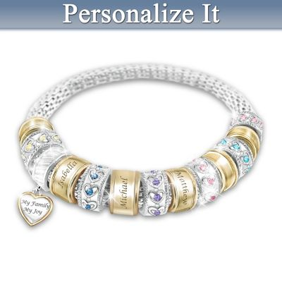 Mom's Pride And Joy Personalized Bracelet
