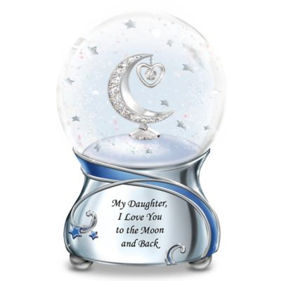 My Daughter, I Love You To The Moon And Back Snowglobe