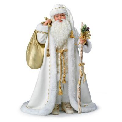 White Christmas Santa Portrait Doll