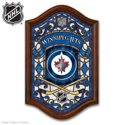 Winnipeg Jets™ Illuminated Stained-Glass Wall Decor