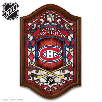 Montreal Canadiens® Illuminated Stained-Glass Wall Decor