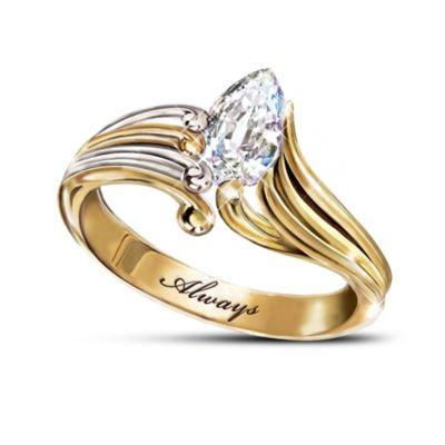 Always Crystal Teardrop Ring