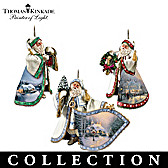Thomas Kinkade Heirloom Santa Ornament Collection