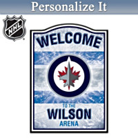 NHL Winnipeg Jets™ Personalized Welcome Sign