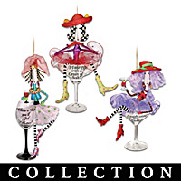 Dolly Mama's Happy Hour Ornament Collection: Set of Three