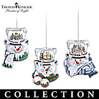 Thomas Kinkade Top Of The Season Ornament Collection