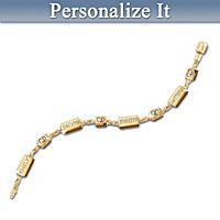 Treasures Of The Heart Personalized Charm Bracelet