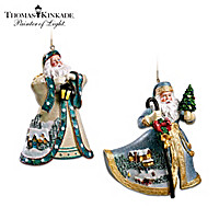 A Candlelit Welcome And Holiday Wishes Ornament Set