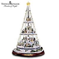 Thomas Kinkade Holiday Lights Tree