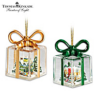 Thomas Kinkade Gifts For The Holidays Ornament Set