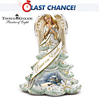 Thomas Kinkade Christmas Angel Of Peace Figurine