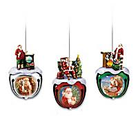 Dona Gelsinger's Santa Ornaments Set One: Set Of Three