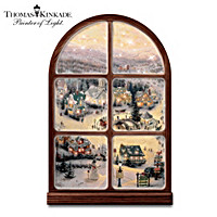 Thomas Kinkade Holiday Lights Window Wall Decor