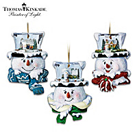 Thomas Kinkade Top Of The Season Ornaments: Set One