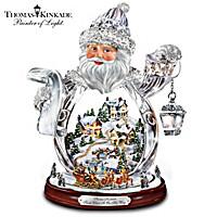 Thomas Kinkade Santa Claus Is On His Way Figurine