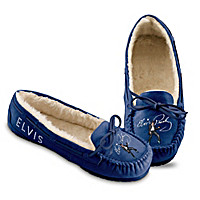 Blue Suede Shoes Moccasins