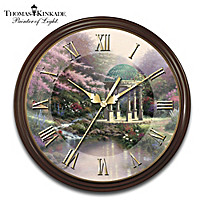 Thomas Kinkade Times Of Splendor 25th Anniversary Wall Clock