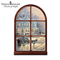 Thomas Kinkade A Holiday Gathering Wall Sculpture
