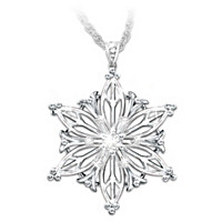 Unique As A Snowflake Diamond Pendant Necklace