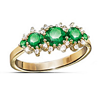 Royal Radiance Emerald And Diamond Ring