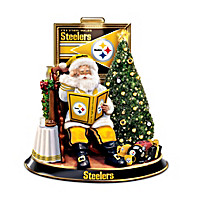 Pittsburgh Steelers Talking Santa Tabletop Centerpiece