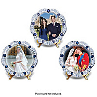 William And Kate: A Royal Union Collector Plate Set