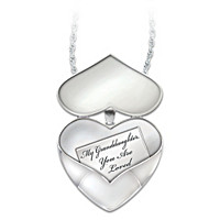 My Granddaughter, You Are Loved Diamond Pendant Necklace