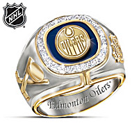 Edmonton Oilers® Diamond Team Men's Ring