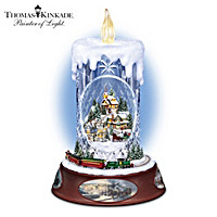 Thomas Kinkade Making Spirits Bright Tabletop Centrepiece