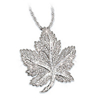 Fit For Royalty Maple Leaf Pendant Necklace