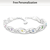 Wishes For My Daughter Personalized Bracelet