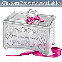 My Sister, My Friend Personalized Music Box