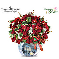 Thomas Kinkade Bringing Holiday Cheer Table Centrepiece