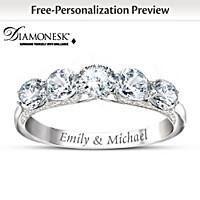 Diamonesk Personalized Anniversary Ring
