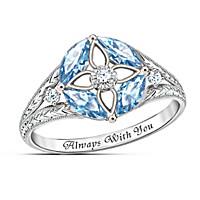 Light Of Faith Blue Topaz And Diamond Ring