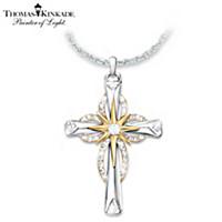 Thomas Kinkade Reflections Of Faith Cross Pendant Necklace